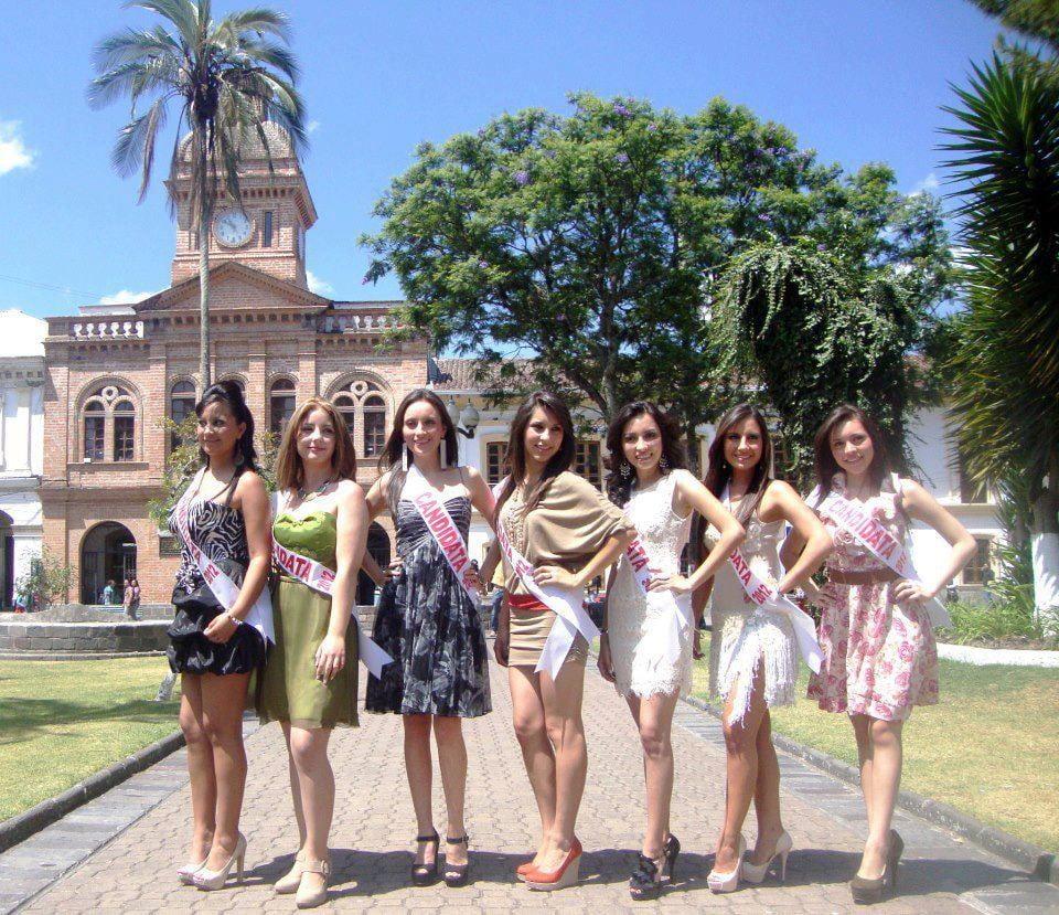 Candidatas Reina de Ibarra 2012. Fotografía: Municipio de Ibarra