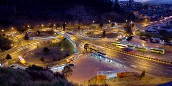 Panorámica de el trebol Quito