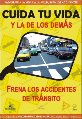 Frena los accidentes de tránsito