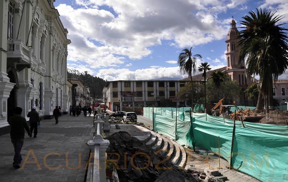 Remodelación Parque Bolívar Otavalo.- Foto Acuario27