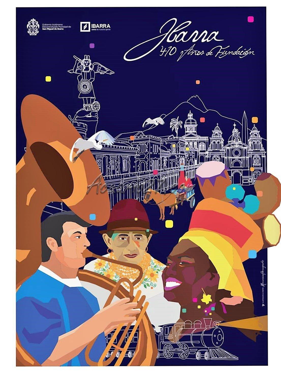 Afiche 410 años de Fundación de Ibarra