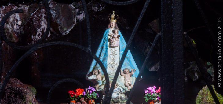 La Virgen de la gruta del socavón en Otavalo