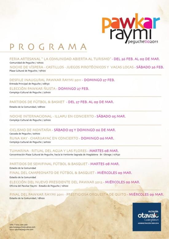 Programa Pawkar Raymi 2011