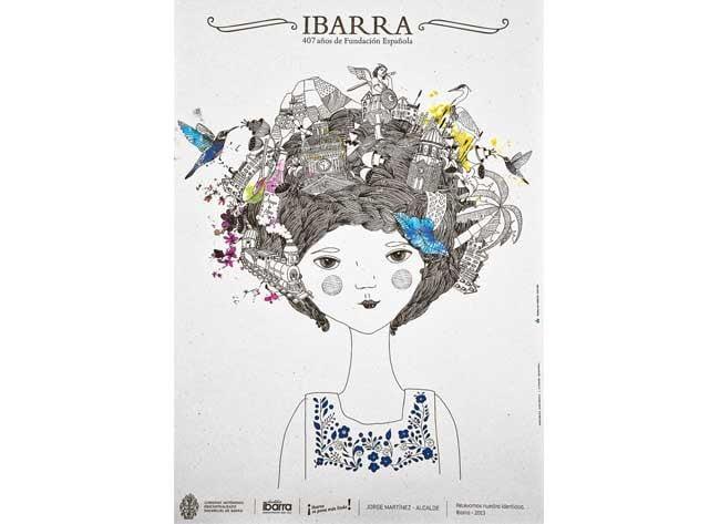 Afiche Fiestas de Ibarra 2013