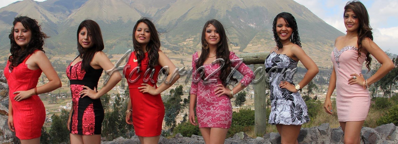 Candidatas a reina del YAMOR 2015, foto GAD Otavalo.