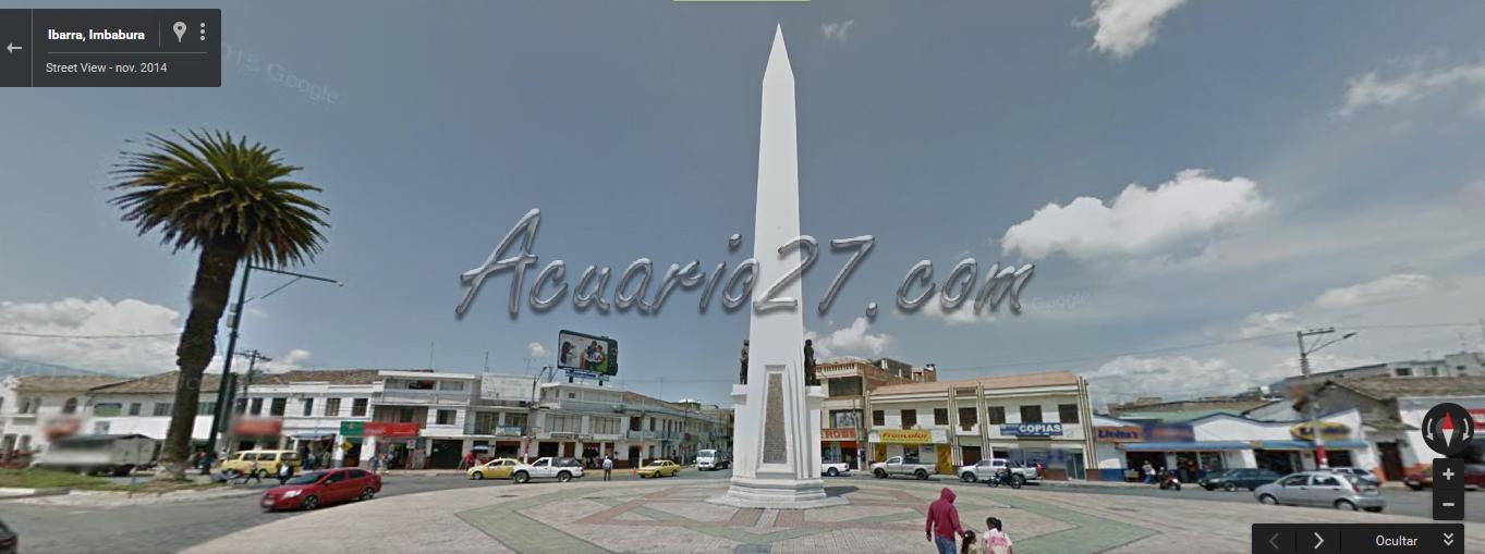 Obelisco Ibarra, Google Street view