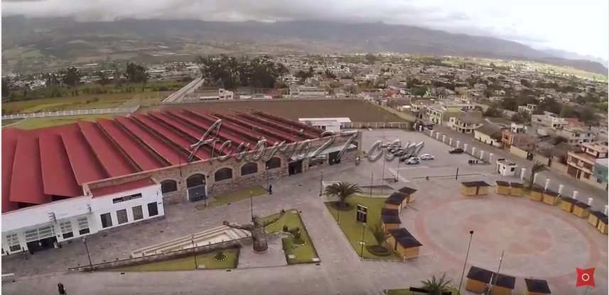 Vista aérea de FAbrica Imbabura Atuntaqui . ciudad 360