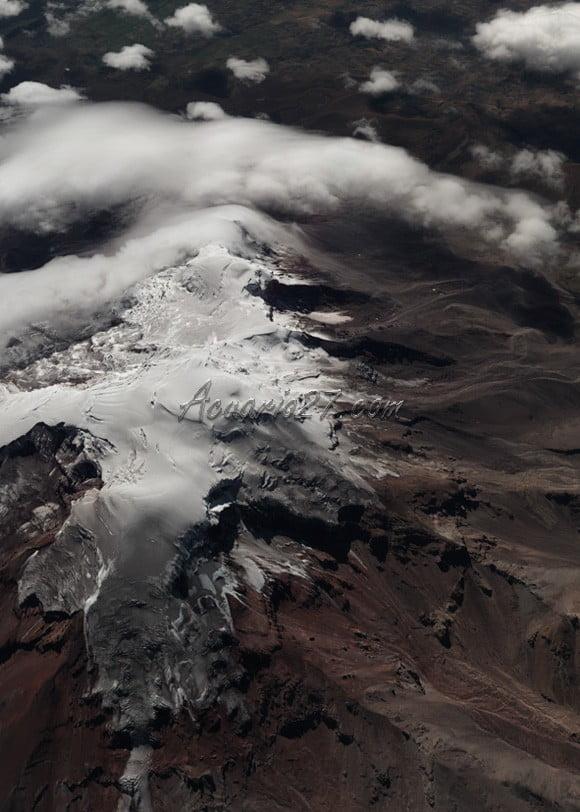 Fotografía panorámica del Volcán Chimborazo, tomada con la cámara digital Ultracam Xp del IGM