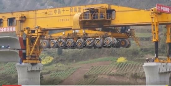 Máquina para construir puentes