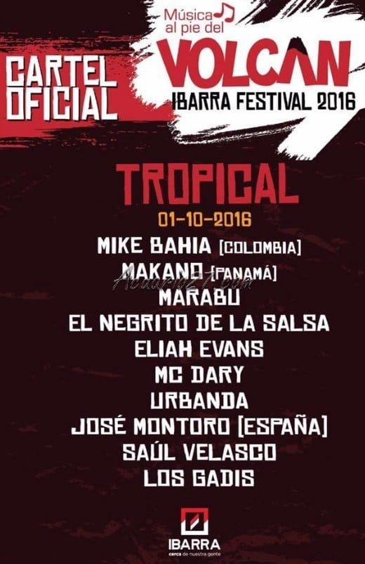 Festival Música al pie del Volcán, Ibarra 2016