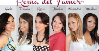 Candidatas Reina del Yamor 2012