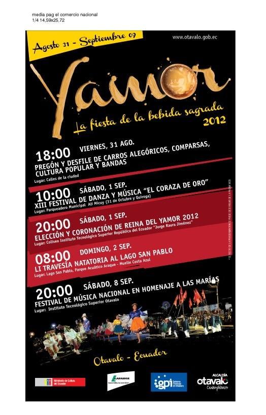 Actividades Yamor 2012.